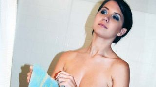 Chrissy in the shower